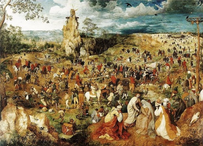 Procession to Calvary - Brueghel